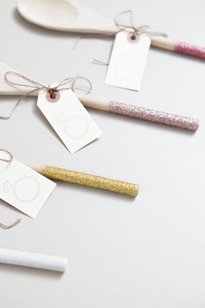 DIY Glitter Wooden Spoons