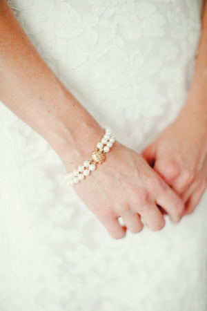 Double Strand Pearl Bracelet Bridal Jewelry
