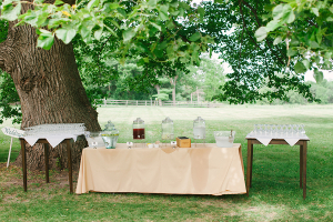 Drink Station for Outdoor Wedding
