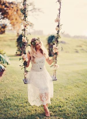 Elegant Bohemian Bridesmaids