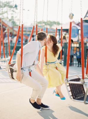 Engagement Photos on Swings