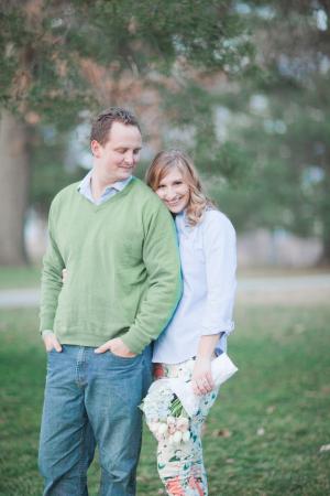 Engagement Portrait in Park From Jordan Brittley