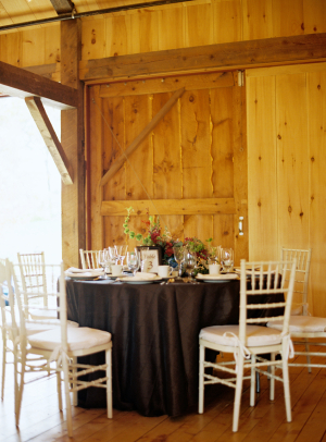 Fall Reception Decor in Barn