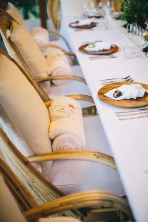 Fleece Blanket Wedding Favors
