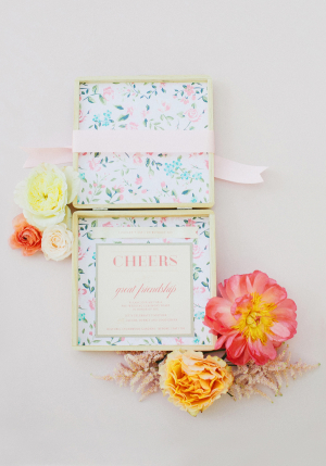 Floral Box Bridal Party Invitation