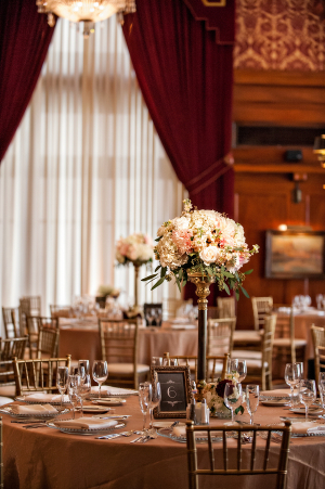 Floral Topiaries Reception Decor