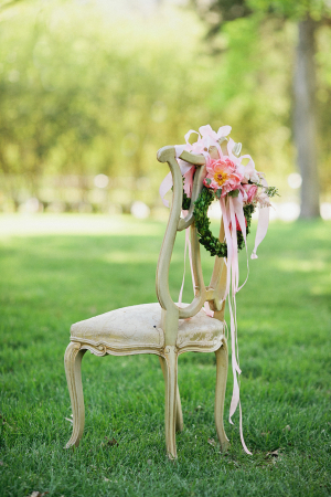 Floral Wreath on Chair Back