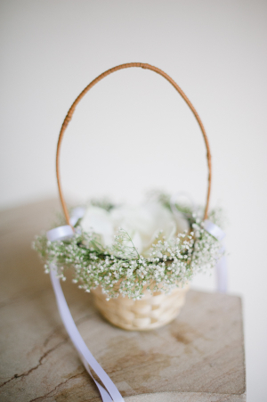 Flower Girl Basket with Babys Breath