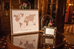 Framed Map Reception Guest Book