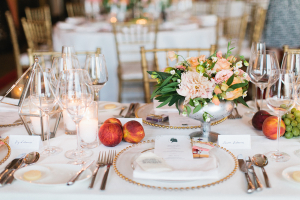 Fruit and Floral Reception Table Decor
