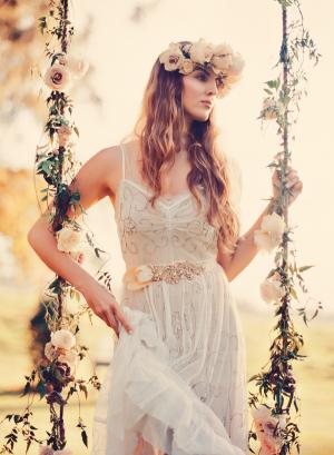 Gauzy White Bridesmaids