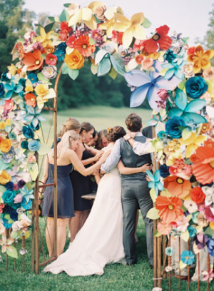 Giant Paper Flower Arch
