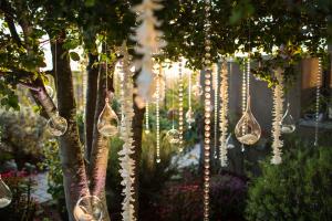 Glass Beads and Terrariums Reception Decor