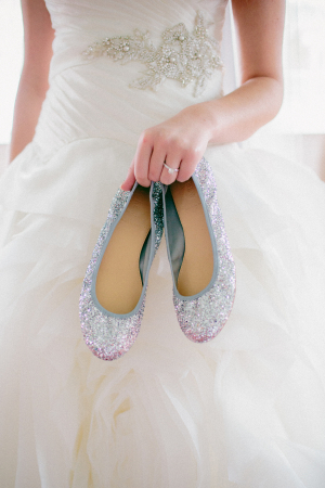 Glitter Ballet Flats Bridal Shoes