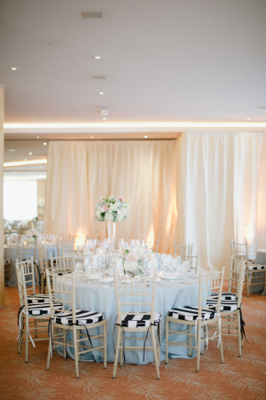 Gold Black and White Reception Decor