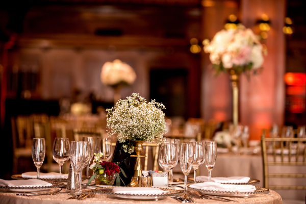 Gold Decor Reception Ideas