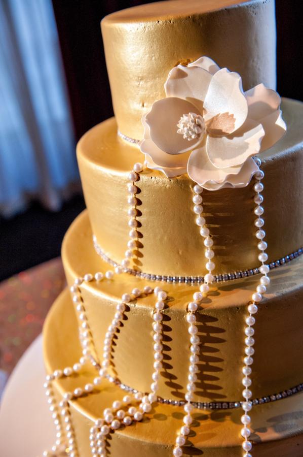 Gold Fondant Wedding Cake - Elizabeth Anne Designs: The Wedding Blog