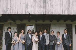 Gray Bridal Party