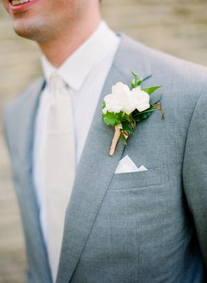 Gray Grooms Suit