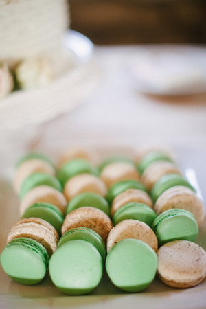 Green Pink Macarons