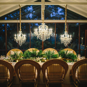 Greenery Garland Reception Table Centerpiece