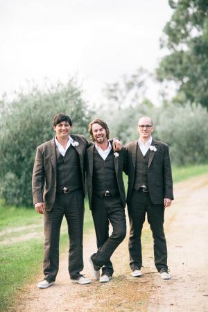 Groomsmen Brown Suits