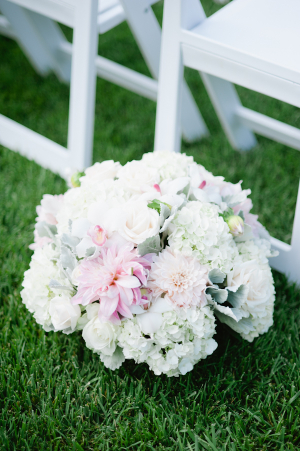 Hydrangea and Dusty Miller Floral Bouquet