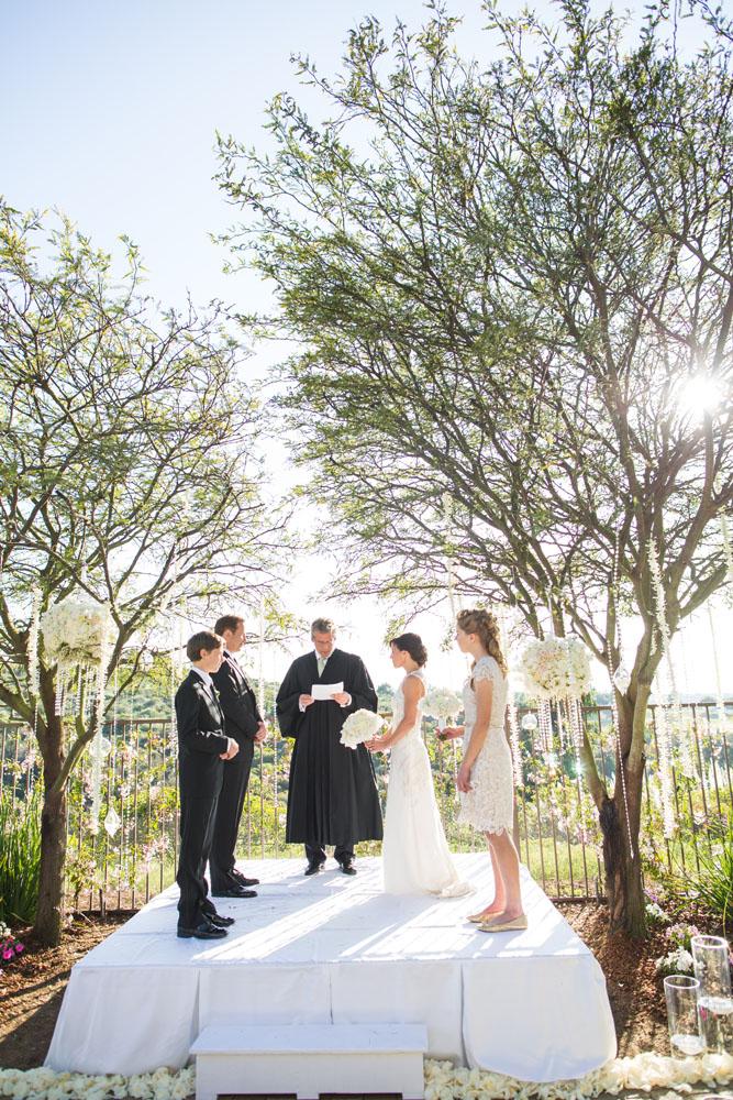 intimate backyard wedding ceremony elizabeth anne
