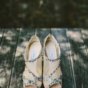 Jeweledy Jimmy Choo Bridal Booties