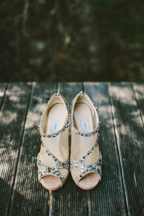 Jeweledy Jimmy Choo Bridal Booties