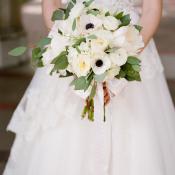 Loose White Bridal Bouquet