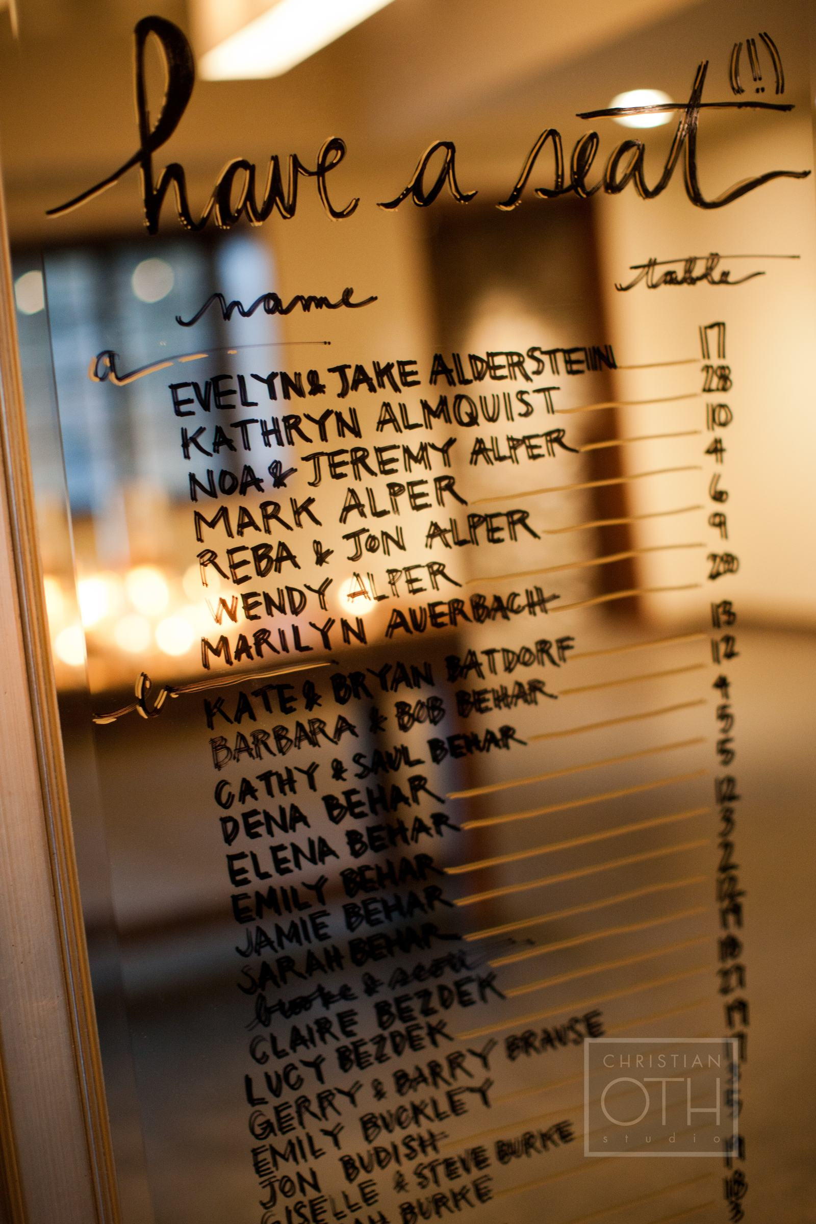 Mirror Seating Chart Elizabeth Anne Designs The Wedding