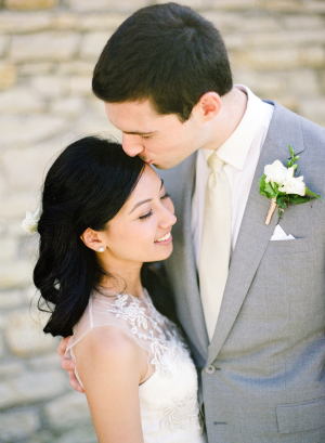 Modern Gray and Cream Grooms Suit