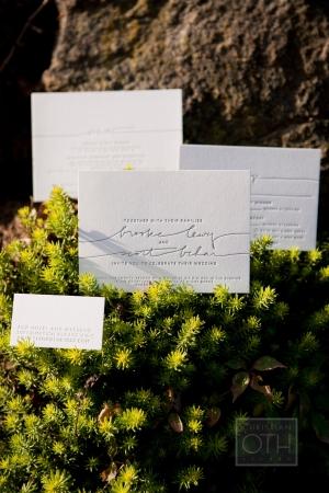 Modern Letterpress Wedding Stationery