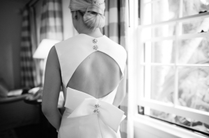 Modern Open Back Wedding Gown