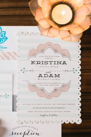 Modern Scalloped Wedding Invitation