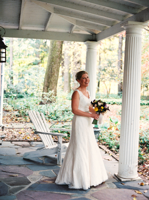 New York Autumn Wedding Bride