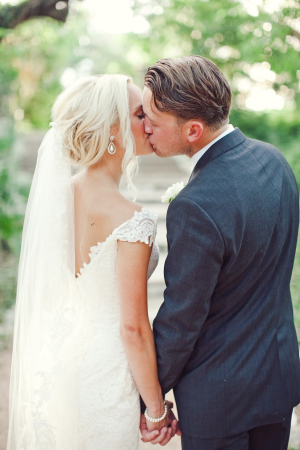 Off Shoulder Bridal Gown With Lace