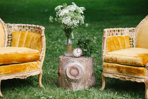 Outdoor Rustic Lounge Area