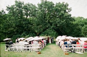 Outdoor Wedding Ceremony Beneath Tree Canopy
