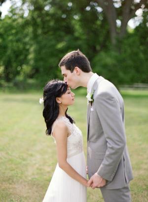 Outdoor Wedding Portrait From Laura Ivanova