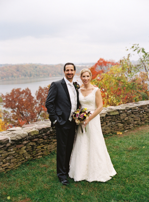 Outdoor Wedding Portrait With Fall Color