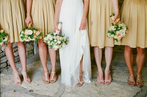 Pale Gold Bridesmaids