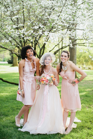Pale Pink Bridesmaids Dresses