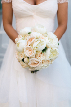 Pale Pink and Cream Rose Bouquet