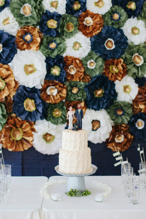 Paper Flower Cake Table Backdrop