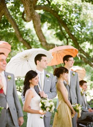 Peach Gold Wedding Party