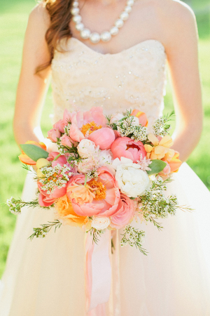 Peach and Yellow Bouquet