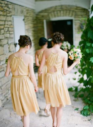 Peekaboo Back Halter Style Bridesmaids Dresses