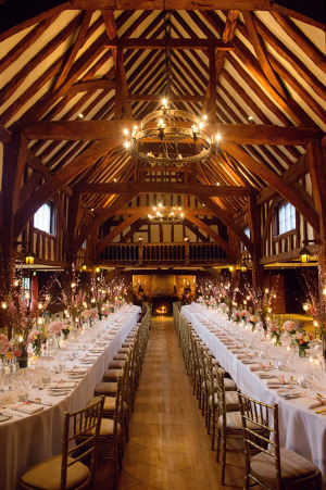 Pink Brown Barn Wedding